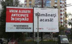 Panou. Referendumul pentru demiterea lui Dorin Chirtoaca